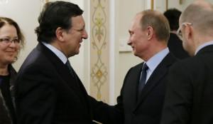 Путин и Баррози обсудили Кипр, бизнес и энергетическую промышленность РФ