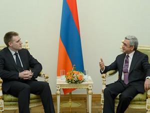 Президент Армении встретился с заместителем премьер-министра Черногории