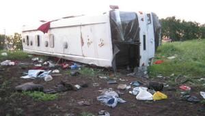 Под Самарой перевернулся автобус есть пострадавшие