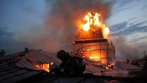 В Петербурге горел Технологический институт