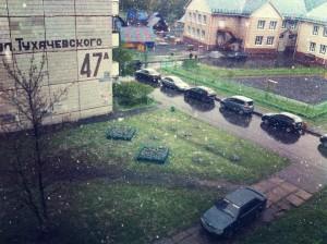 Кемеровское лето началось со снегопада