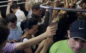 Задымление в вагоне московского метро