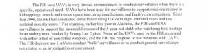 ФБР использовало беспилотных самолетов-разведчиков на территории США 10 раз, начиная с 2006 года
