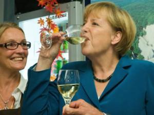Ангела Меркель празднует победу на выборах в Германии