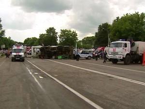 Под Новосибирском в ДТП попал автобус с пассажирами