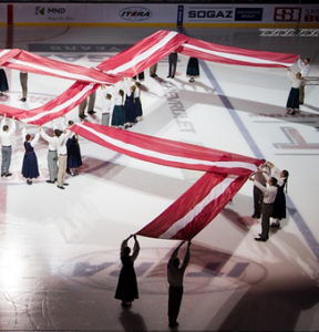 Континентальная хоккейная лига оштрафовала рижское «Динамо» за демонстрацию свастики на 1 млн рублей