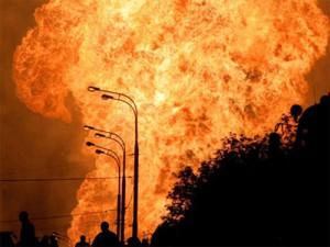 Мощный взрыв газопровода в Польше