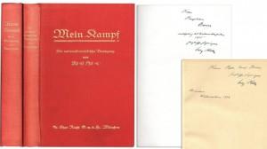 Экземпляры первого и второго тома «Майн кампф» с подписью Гитлера проданы за 64 тысячи долларов