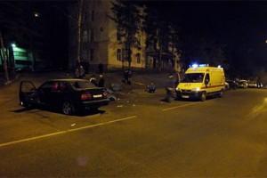 Пьяный водитель въехал в толпу людей в городе Воронеже