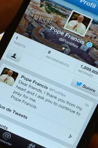 Папа Римский просит молиться за него на своей страничке в Twitter
