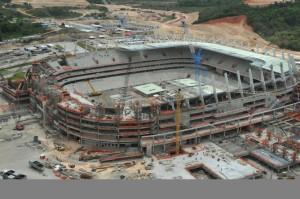 Во время проведения работ по строительству арены открытия Чемпионата мира 2014 погиб рабочий