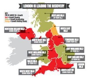 Лондон - лидер роста ВВП в Великобритании