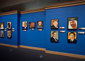 В Соединенных Штатах Джордж Буш-младший показал портреты мировых лидеров