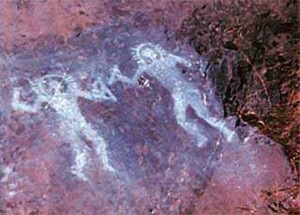 Древние наскальные изображения обнаружены в Индии