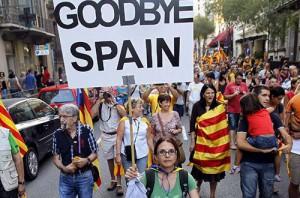 На митинг за независимость Каталонии в Барселоне собрались 500 000 человек