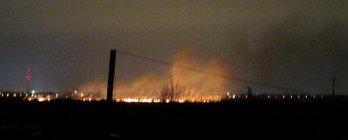 Пал травы угрожает пожарами пригородам Великого Новгорода