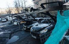 Названа основная версия пожара, который уничтожил в столице 12 элитных авто