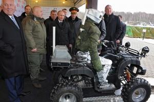 Президенту Путину показали новейшую разработку - робота - аватара в действии