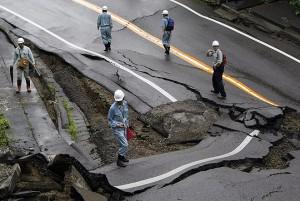 В Японии произошло второе мощное землетрясение