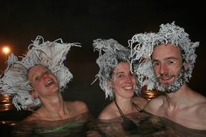 В Канаде состоялся конкурс по замораживаю волос