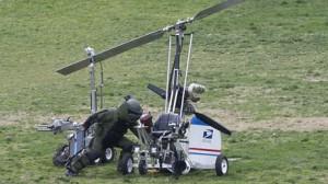 У здания Конгресса США приземлился почтальон на самодельном вертолете