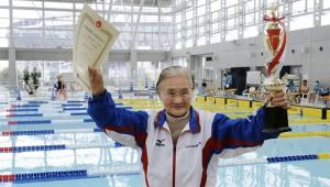 В заплыве на полтора километра рекорд установила столетняя японка
