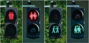 В Германии поставили первые светофоры для представителей ЛГБТ - сообщества