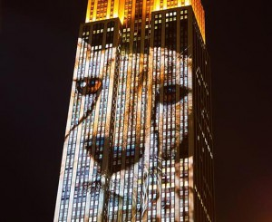 На нью-йоркском небоскребе показали вымирающих животных