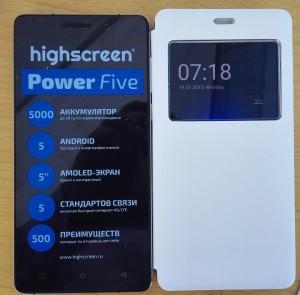 Highscreen Power Five Pro – находка для геймеров и активных пользователей