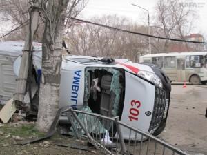 Нижний Новгород: Скорая помощь столкнулась с маршруткой 10 человек госпитализированы