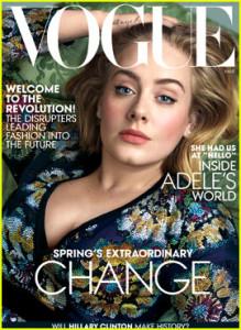 Адель появится на мартовской обложке 'Vogue'