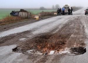 Оренбуржье: Большинство прошлогодних ДТП случилось из-за неотремонтированных дорог