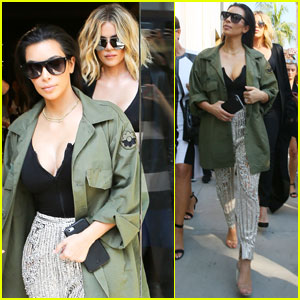 Ким и Хлои Кардашян были окружены фанатами во время шоппинга