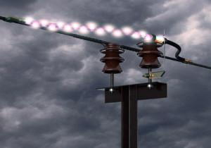 В Пскове из-за удара молнии частные дома остались без света