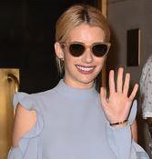 Эмма Робертс посетила Неделю моды в Нью-Йорке