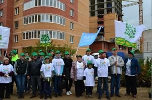 В подмосковном поселке Лесной городок  высадили деревья сотрудники M1 Development