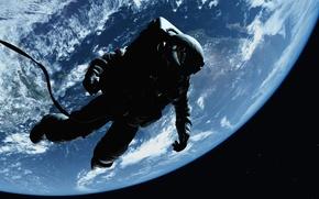 art-kosmos-zemlia-atmosfera-gravitatsiia-nevesomost-kosmonav