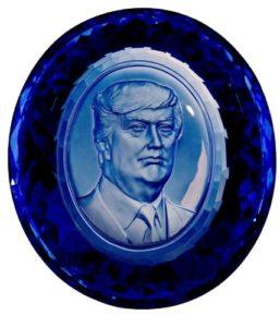 Dark blue sapphire, gemstone carving,  faceted, weight 698 gr. (PRNewsFoto/Vip Art Ltd)