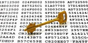 encryption-on-paper-with-key